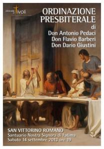 Manifesto Diocesi Ordinazione Flavio Barberi