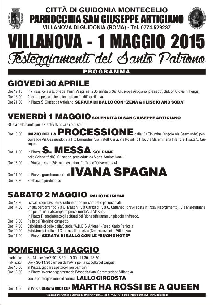 Scarica il manifesto della Festa Patronale 30 aprile 3 maggio 2015