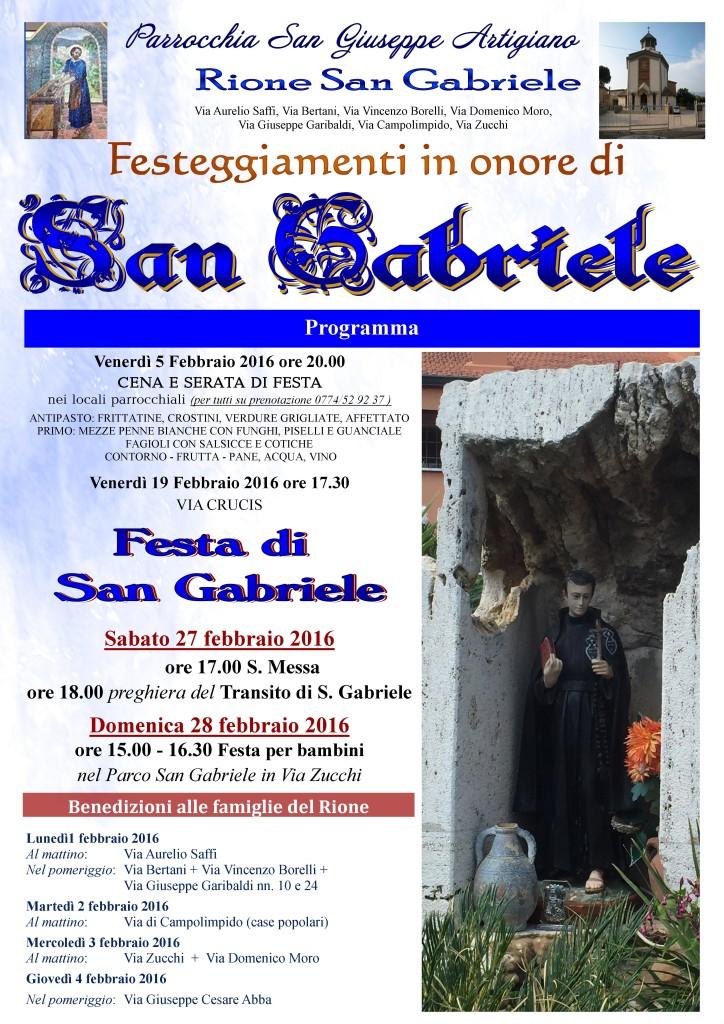 Locandina S Gabriele 2016