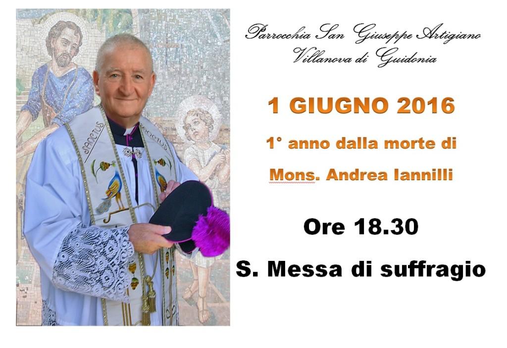 1 anniversario morte Mons Andrea Iannilli