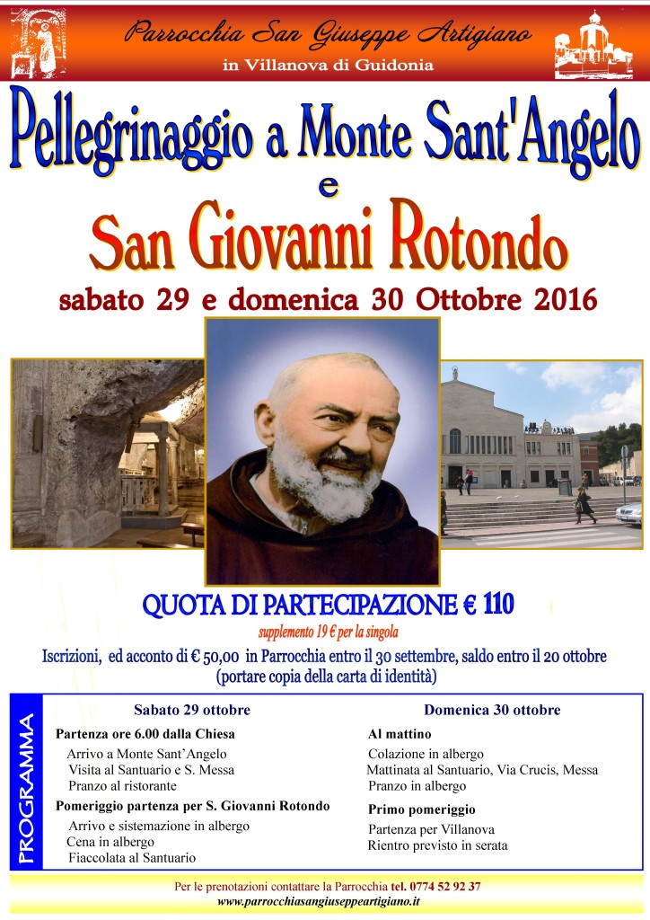 PELLEGRINAGGIO M_SANT'ANGELO-SAN GIOVANNI