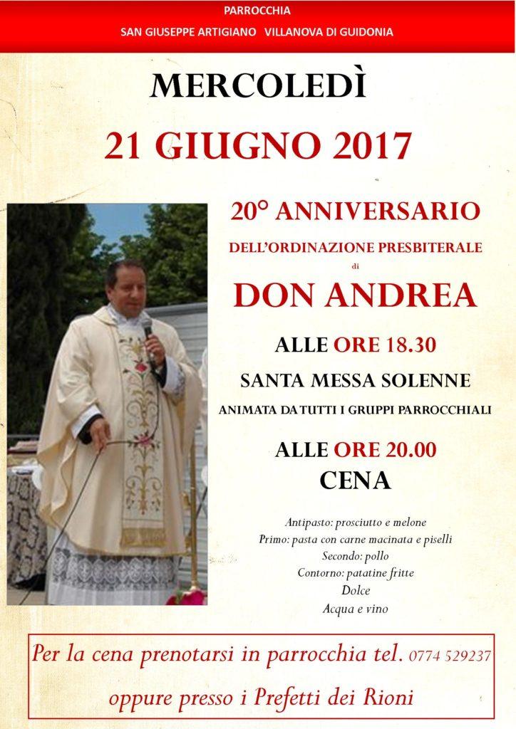 anniversario don Andrea 2017