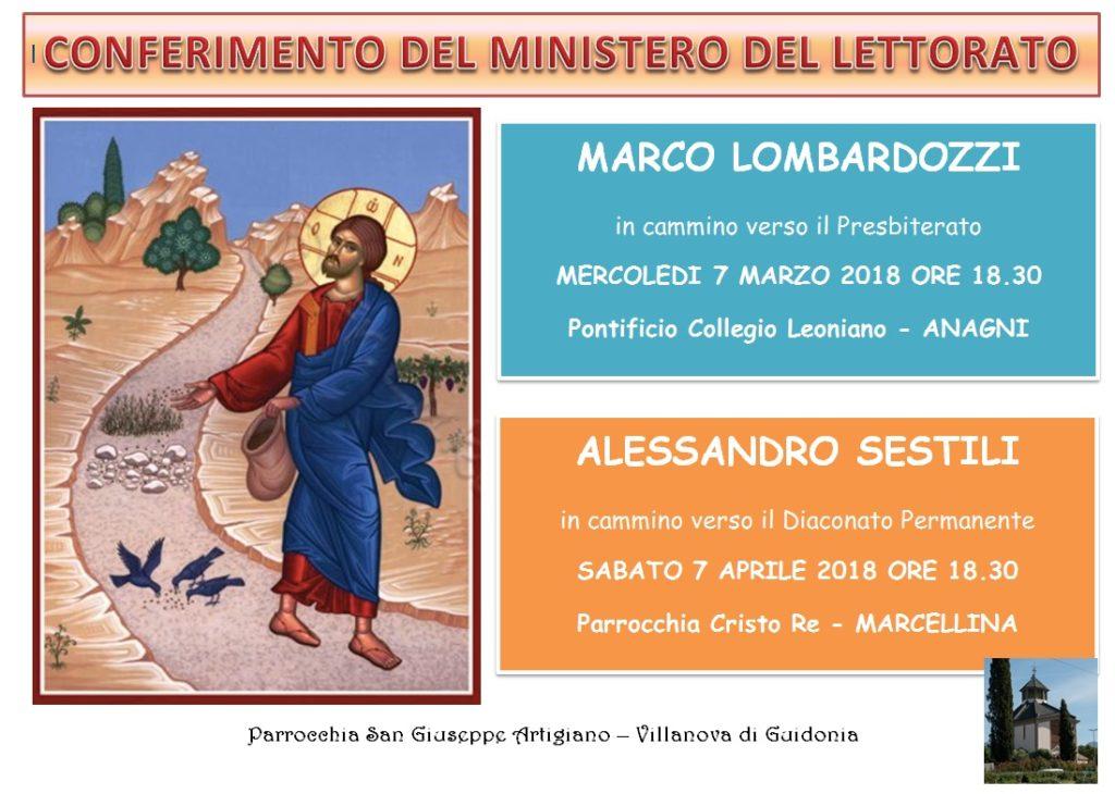 Lettorato Marco e Alessandro 2018