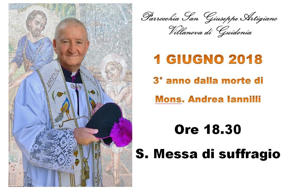 3 anniversario morte Mons Andrea Iannilli