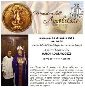 Accolitato Marco Lombardozzi