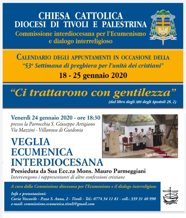 Veglia ecumenica 2020 a Villanova