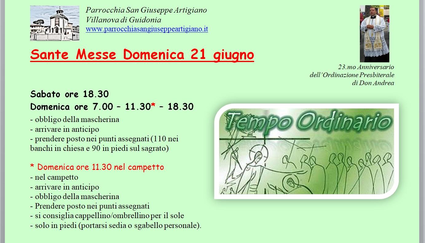 Villanova_Ss. Messe 21 giugno 2020