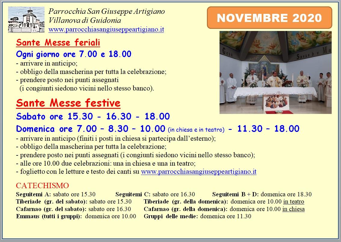 Orario Messe novembre_Villanova
