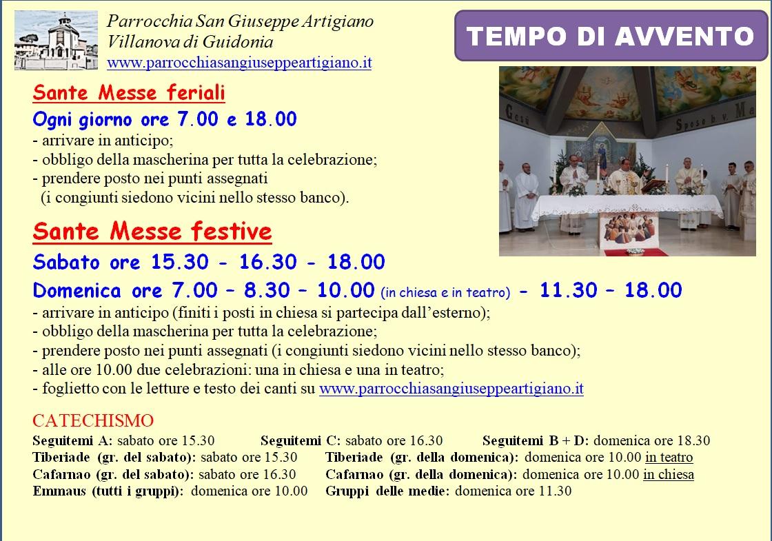 Orario Messe AVVENTO