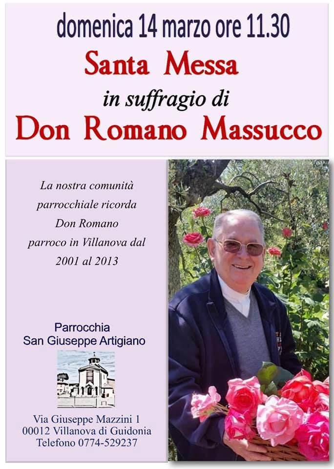Messa suffragio don Romano