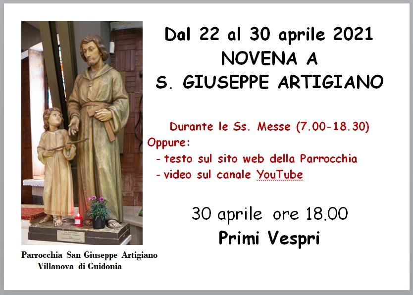 Novena a San Giuseppe Artigiano